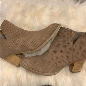 Dolce vita perforated suede bootie 7